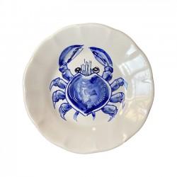Assiette 21 cm Crabe Bleu