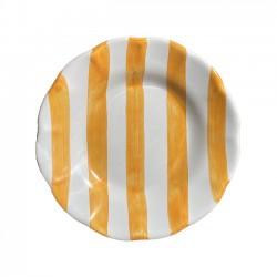 Petite Assiette Rayures Ocres