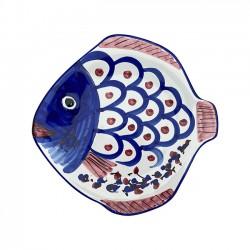 Assiette Poisson 23 cm Bleue