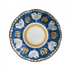 Assiette Poule Bleue & Jaune