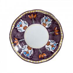 Assiette Hibou violet