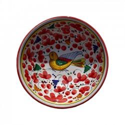 Bol 14 cm Oiseau Fleurs Rouge