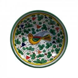 Bol 14 cm Oiseau Fleurs Vert