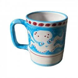 Mug Pieuvre Bleu Ciel