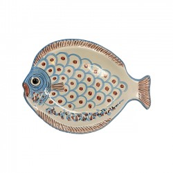 Grand Plat Poisson Turquoise