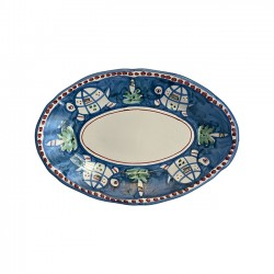 Plat Ovale Tortue Bleue