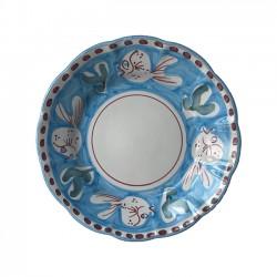 Assiette 21 cm Poisson Bleu...