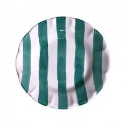 Assiette 16 cm Rayure Verte