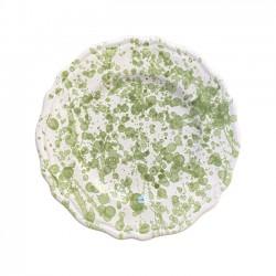 Assiette 20 cm Points Vert