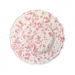 Assiette 20 cm Points Roses