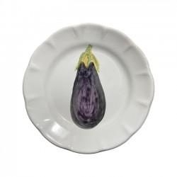 Assiette 20 cm Aubergine