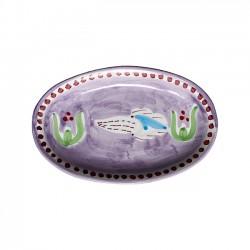 Plat Ovale 25 cm Seiche Violet