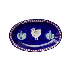 Plat Ovale 25 cm Poule Bleu...