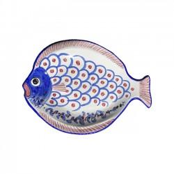 Plat Poisson 41 cm Bleu