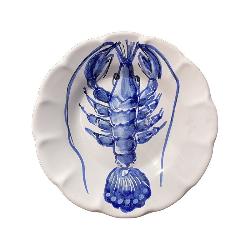 Assiette 16 cm Homard Bleu