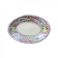 Plat Ovale 35 cm Seiche Violet