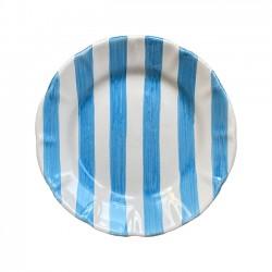 Assiette 21 cm Rayure Bleu...