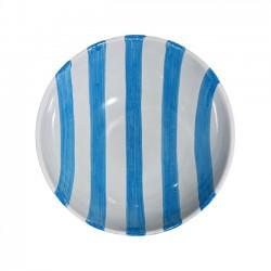 Saladier 22 cm Rayure Bleu...