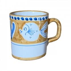 Mug Poisson Orange & Bleu