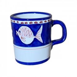 Mug Poisson Bleu & Rouge