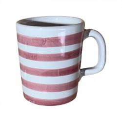 Mug Rayure Rose