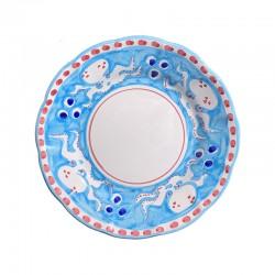 Assiette 21 cm Pieuvre Bleu...