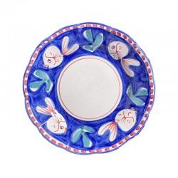 Assiette Bleu Poisson
