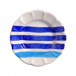 Assiette 16 cm Rayure Bleue...