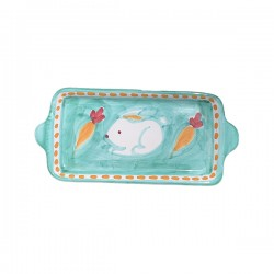 Plat rectangle Lapin