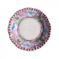 Assiette 21 cm Seiche Violette