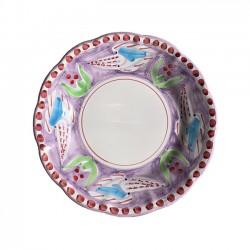 Assiette Violette Seiche